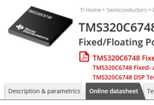 Texas Instruments – OnlineDatasheets