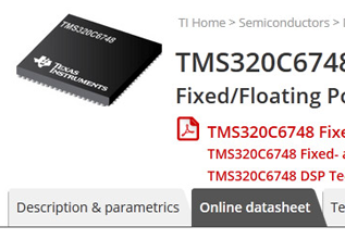 Texas Instruments – Online Datasheets