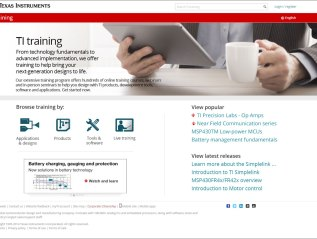 Texas Instruments – Training Portal
