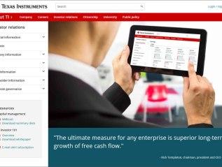 Texas Instruments – InvestorRelations